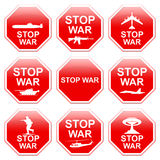 Guerra da parada de nove sinais ilustração do vetor