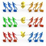 Guerra de la economía stock de ilustración