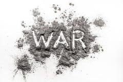Guerra de la palabra escrita en ceniza Imagen de archivo libre de regalías