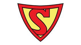 Guerra de los mundos: Logotipo del superhombre S imagen de archivo libre de regalías