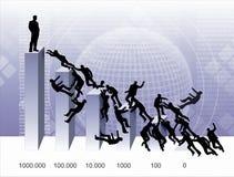 Guerra dei diagrammi Immagine Stock
