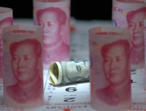 Guerra dei fondi della Cina Stati Uniti Fotografia Stock