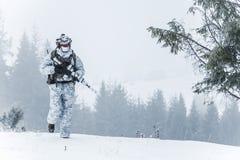 Guerra del ártico del invierno Imagenes de archivo