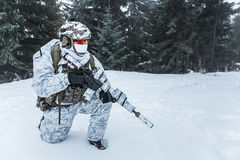 Guerra del ártico del invierno Imagen de archivo libre de regalías