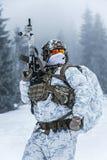 Guerra del ártico del invierno Imágenes de archivo libres de regalías