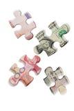 Guerra del dinero en circulación Fotos de archivo libres de regalías