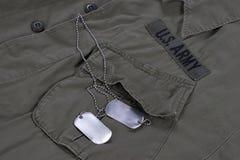Guerra del vietnam uniforme dell'esercito americano Immagini Stock Libere da Diritti