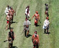 Guerra di indiano e francese Immagine Stock