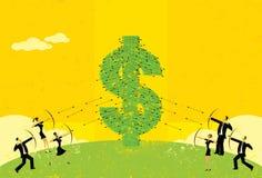 Guerra di prezzi royalty illustrazione gratis