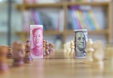 Guerra di valuta Fotografie Stock