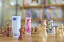 Guerra di valuta Fotografia Stock Libera da Diritti