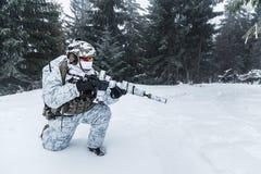 Guerra do ártico do inverno Imagem de Stock Royalty Free