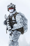 Guerra do ártico do inverno Fotografia de Stock Royalty Free