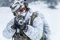 Guerra do ártico do inverno Imagens de Stock