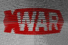 Guerra do cyber do código binário Fotos de Stock Royalty Free
