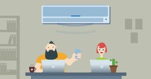 Guerra do escritório para o condicionamento de ar ilustração do vetor