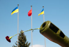 Guerra e pace Fotografia Stock Libera da Diritti