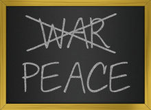 Guerra e pace Fotografie Stock Libere da Diritti