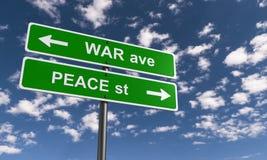 Guerra e pace fotografia stock