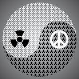 Guerra e pace Ying Yang Symbol illustrazione vettoriale