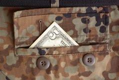Guerra e soldi Fotografia Stock