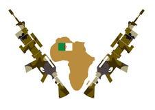 Guerra em Argélia foto de stock