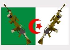 guerra em Argélia fotografia de stock