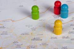 Guerra en Damasco imágenes de archivo libres de regalías