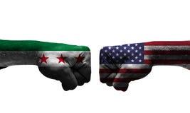 A guerra entre 2 países imagens de stock royalty free