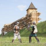 Guerra entre vikingos Fotografía de archivo libre de regalías