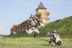 Guerra entre vikingos Foto de archivo