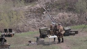 Guerra La Segunda Guerra Mundial Versión de la pantalla almacen de video