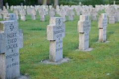 Guerra militare della Germania seconda del cimitero Fotografie Stock