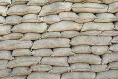Guerra mondiale del filo spinato del fondo WW1 e dei sacchetti di sabbia Fotografia Stock