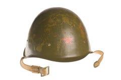 Guerra mondiale sovietica russa del casco dell'esercito. Immagini Stock