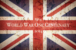 Guerra mondiale un centenario Union Jack fotografia stock