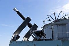 Guerra mondiale una mitragliatrice contraerea navale di 2 ere Fotografia Stock