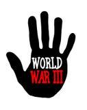 Guerra mundial de Handprint III stock de ilustración