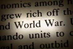 Guerra mundial de la palabra foto de archivo libre de regalías