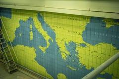 A guerra mundial 2 de Malta e a guerra fria escavam um túnel, salas de operações de guerra da segunda guerra mundial, túneis malt fotos de stock royalty free