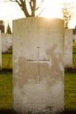 A guerra mundial flanders do cemitério coloca Bélgica Imagem de Stock Royalty Free