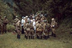 Guerra Mundial histórica de la reconstrucción Segunda Imagen de archivo libre de regalías