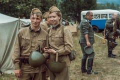 Guerra Mundial histórica de la reconstrucción Segunda Imagen de archivo