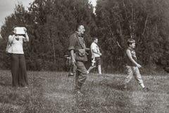 Guerra Mundial histórica de la reconstrucción Segunda Foto de archivo