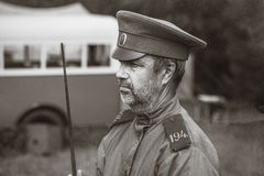Guerra Mundial histórica de la reconstrucción Segunda Guardia de seguridad Foto de archivo