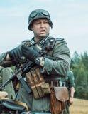 Guerra Mundial histórica de la reconstrucción Segunda Los soldados alemanes son Fotos de archivo