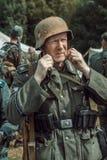 Guerra Mundial histórica de la reconstrucción Segunda Retrato de s alemán Foto de archivo libre de regalías