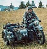 Guerra Mundial histórica de la reconstrucción Segunda Soldados alemanes y Imagen de archivo libre de regalías