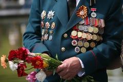 Guerra mundial rusa del veterano Imagen de archivo libre de regalías