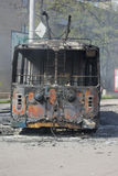 Guerra na cidade Kramators'k de Ucrânia imagens de stock